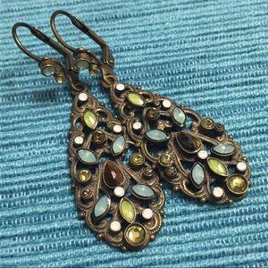 Sorrelli Filigree Crystal Drop Earrings